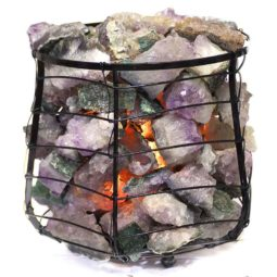 Amethyst Geodes Stone Capsule Lamp   Himalayan Salt Factory