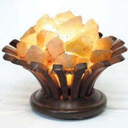Citrine Crystal Rock Lotus Lamp | Himalayan Salt Factory
