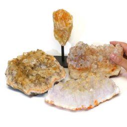 Citrine Crystal Set 4 Pieces S330-1   Himalayan Salt Factory
