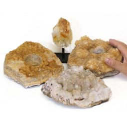 Citrine Crystal Set 4 Pieces S331-2   Himalayan Salt Factory