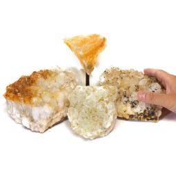 Citrine Crystal Set 4 Pieces S333-2   Himalayan Salt Factory
