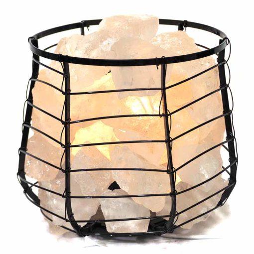 Clear Crystal Rocks Relaxing Capsule Lamp   Himalayan Salt Factory