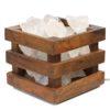 Clear Quartz Rocks Cubie Lamp   Himalayan Salt Factory