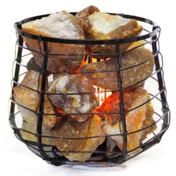 Golden Crystal Rocks Relaxing Capsule Lamp | Himalayan Salt Factory
