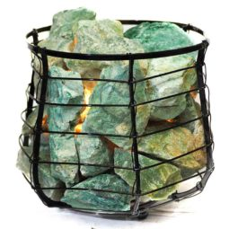 Green Quartz Vibrations Capsule Lamp | Himalayan Salt Factory