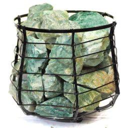 Green Quartz Vibrations Capsule Lamp | Himalayan Salt Factory
