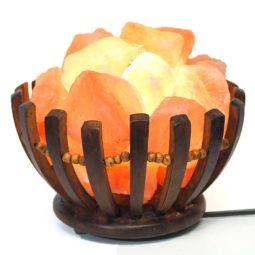Himalayan Salt Chunk Basket Lamp | Himalayan Salt Factory