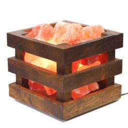 Himalayan Salt Chunk Cubic Lamp | Himalayan Salt Factory