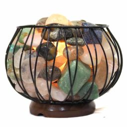 Mixed Gemstones Holistic Amore Lamp | Himalayan Salt Factory