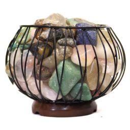Mixed Gemstones Holistic Amore Lamp | Himalayan Salt Factory