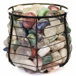 Mixed Gemstones Holistic Capsule Lamp | Himalayan Salt Factory