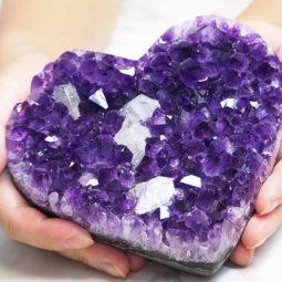 Natural Amethyst Druze Heart DS52-2 | Himalayan Salt Factory
