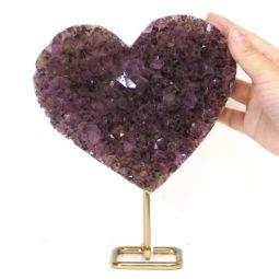 Natural Amethyst Druze Heart DS56-1 | Himalayan Salt Factory