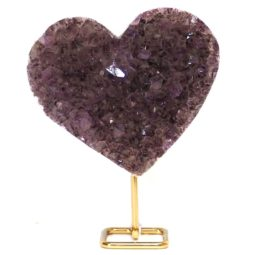 Natural Amethyst Druze Heart DS56 | Himalayan Salt Factory