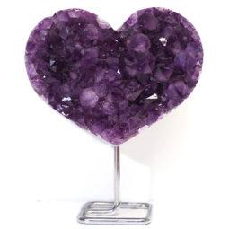 Natural Amethyst Druze Heart DS59-1 | Himalayan Salt Factory