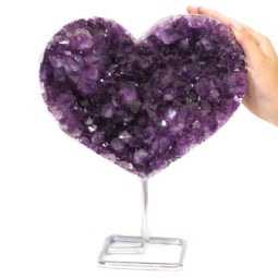 Natural Amethyst Druze Heart DS60 | Himalayan Salt Factory