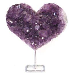Natural Amethyst Druze Heart DS62-1 | Himalayan Salt Factory