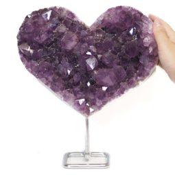 Natural Amethyst Druze Heart DS62 | Himalayan Salt Factory