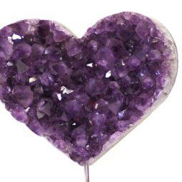 Natural Amethyst Druze Heart DS63-2 | Himalayan Salt Factory