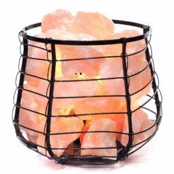 Rose Quartz Crystal Rock Love Capsule Lamp | Himalayan Salt Factory