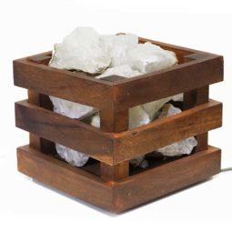 Rough Crystal Rocks Cubic Lamp | Himalayan Salt Factory