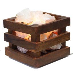 Rough Crystal Rocks Cubic Lamp   Himalayan Salt Factory