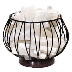 Selenite Crystal Sticks Amore Lamp   Himalayan Salt Factory
