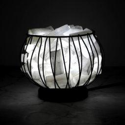 Selenite Crystal Sticks Amore Lamp with LED Bulb | Himalayan Salt Factory