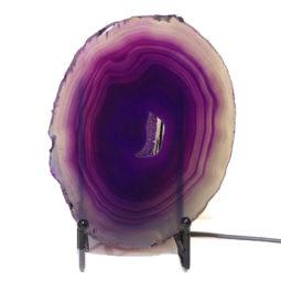 Sliced Brazilian Crystal Agate Lamp S311 | Himalayan Salt Factory