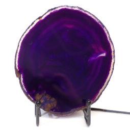 Sliced Brazilian Crystal Agate Lamp S312 | Himalayan Salt Factory