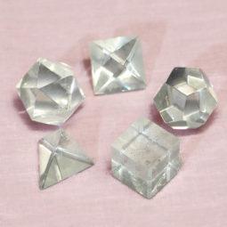 Clear Quartz Sacred Geometry Set 1   Himalayan Salt Factory