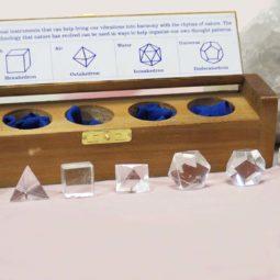 Clear Quartz Sacred Geometry Set   Himalayan Salt Factory