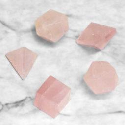 Rose Quartz Sacred Geometry Set 1   Himalayan Salt Factory