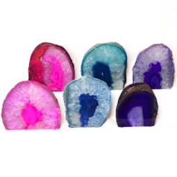 Agate Tealight Candle Holder Set 6 Pieces