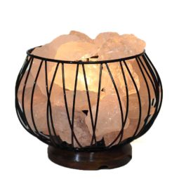 Clear Quartz Rocks Relaxing Amore Lamp-2
