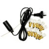 Crystal Lamp Power Cord – Black + 10 Bulbs (15W) (220V-240V)   Himalayan Salt Factory