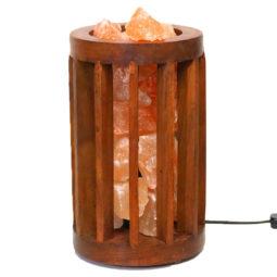 Himalayan Salt Chunk Tall Tubular Lamp (12V - 12W) | Himalayan Salt Factory