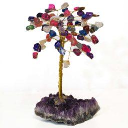 Mixed Gemstone Tree - Medium   Himalayan Salt Factory