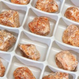 Orchid Calcite Flat 24 Pieces Tray | Himalayan Salt Factory