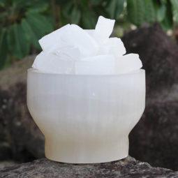 Selenite Fire Bowl Lamp - Large | Himalayan Salt Factory