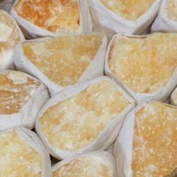 Small Flat Orange Calcite Tray | Himalayan Salt Factory