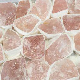 Small Flat Rose Quartz Tray   Himalayan Salt Factory
