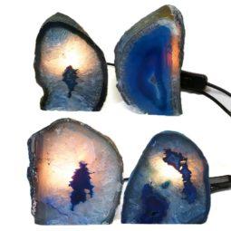 Blue Agate Crystal Lamp | Himalayan Salt Factory