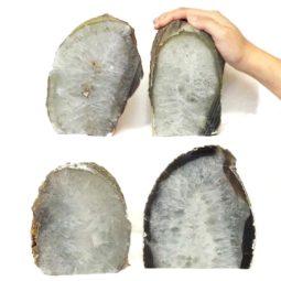 Natural Agate Crystal Lamp Bulk Set 4 Package | Himalayan Salt Factory