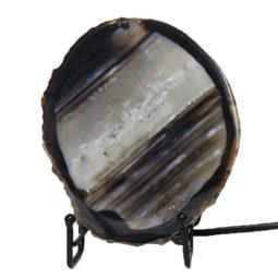 Brazilian Sliced Agate Crystal Lamp J1301-1 | Himalayan Salt Factory