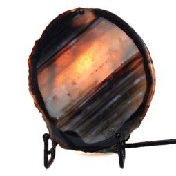 Brazilian Sliced Agate Crystal Lamp J1301 | Himalayan Salt Factory