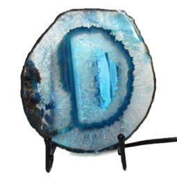 Brazilian Sliced Crystal Agate Lamp J1330   Himalayan Salt Factory