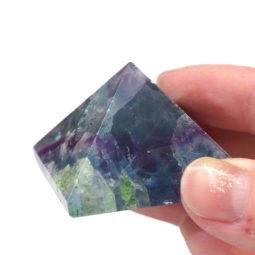 Rainbow Fluorite Pyramid – Medium   Himalayan Salt Factory