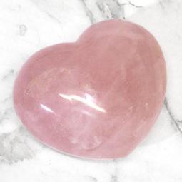 Rose Quartz Heart Palm Stone - Large   Himalayan Salt Factory