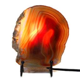Sliced Brazilian Crystal Agate Lamp S564 | Himalayan Salt Factory